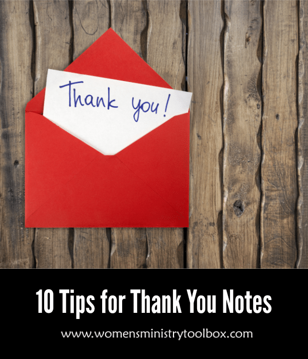 10 Tips for Thank You Notes