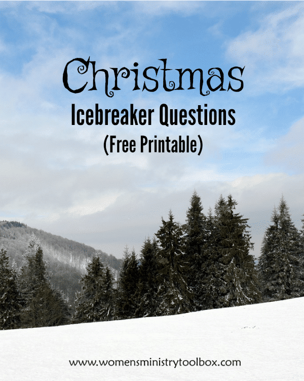 Christmas Icebreaker Questions (Free Printable)