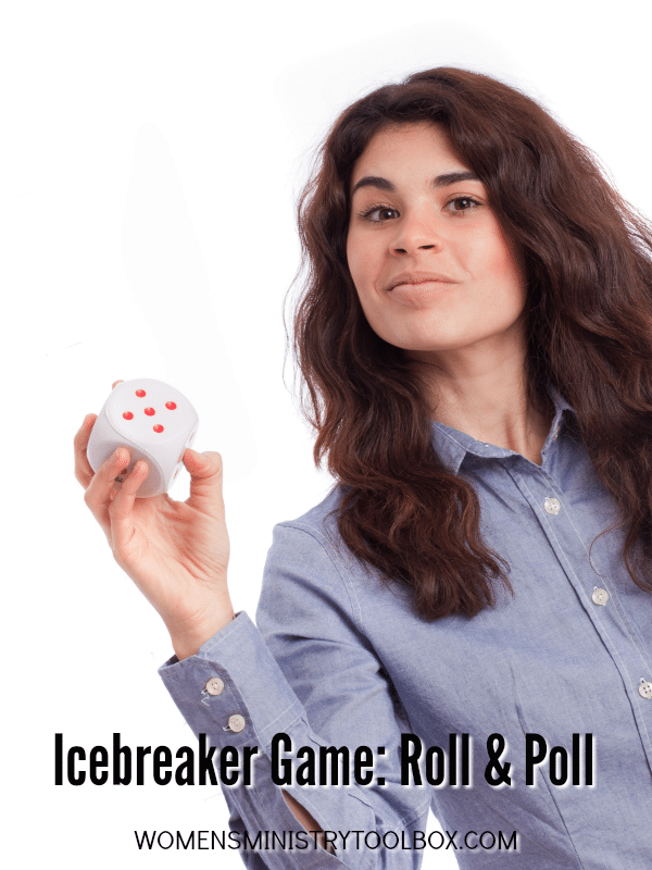 Icebreaker Game: Roll and Poll - Includes free printable. Great for small and large groups!