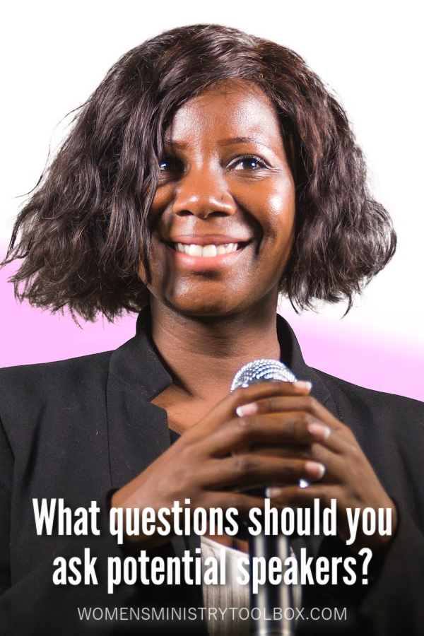 What questions should you ask potential speakers? This list of questions will help you find the best speaker for your group faster!