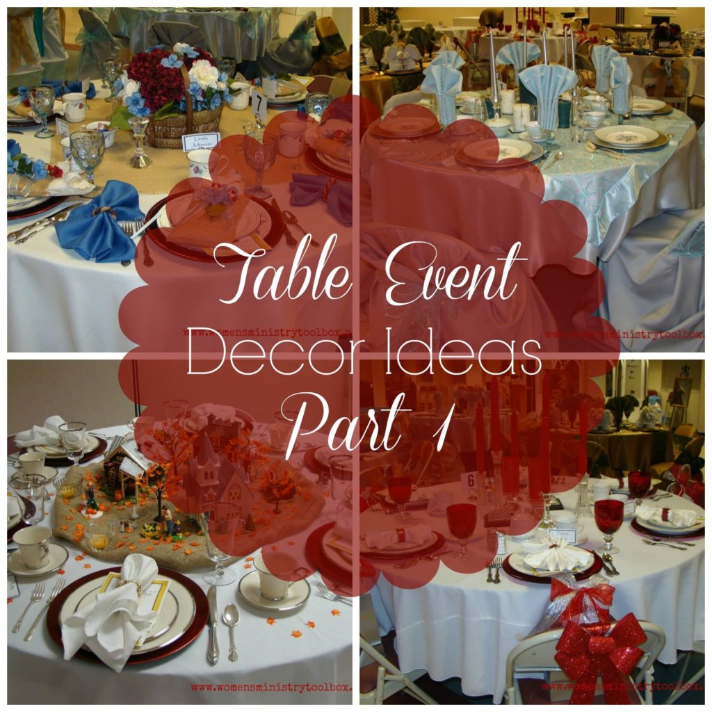 Table Event Decor Ideas Part 1