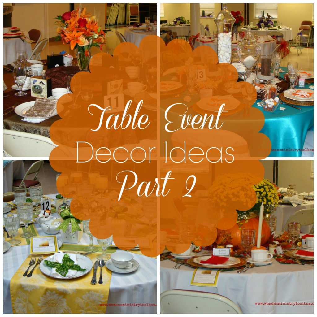 Table Event Decor Ideas Part 2