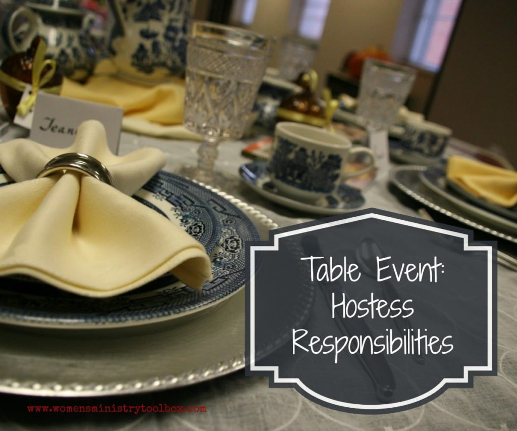 Table Event Hostess Responsibilities