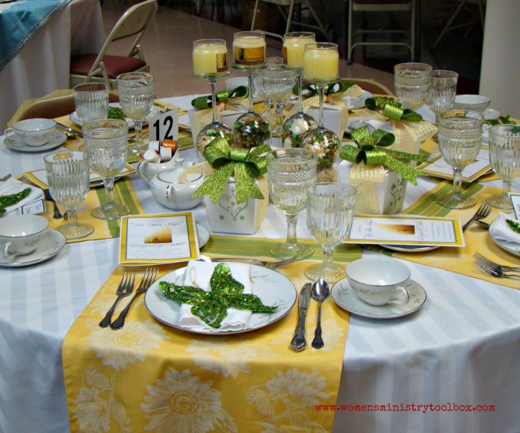 yellow and green table