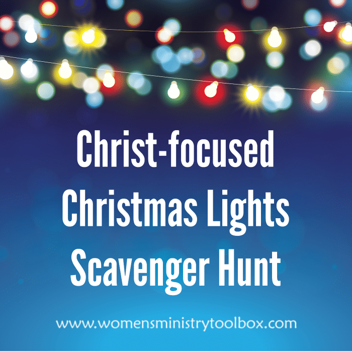 Christ-focused Christmas Lights Scavenger Hunt