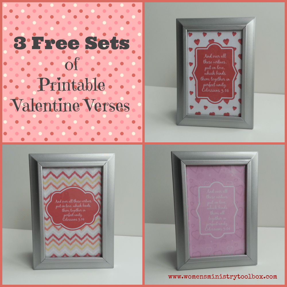 3 Free Sets of Printable Valentine Verses