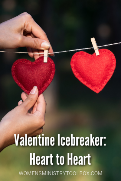 This Valentine Icebreaker, Heart to Heart, will help your group connect with one another at your Valentine party, fellowship, or Bible study.