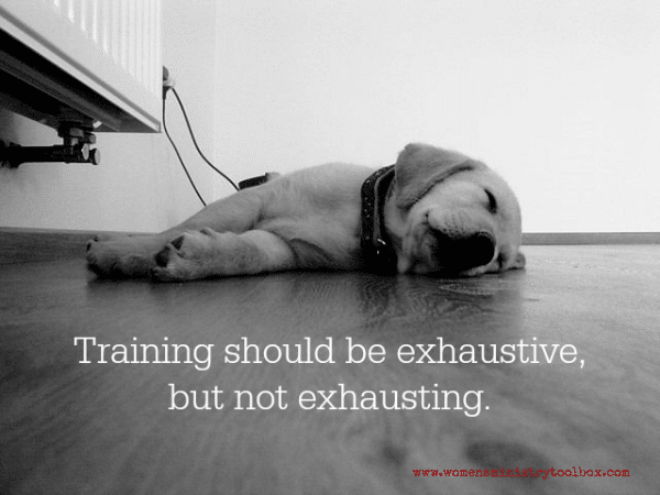 Training should be exhaustive, but not exhausting. #womensministry