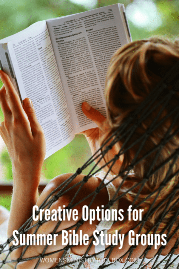 Not sure what to do about Bible study in the summer? Check out these creative summer Bible study options.