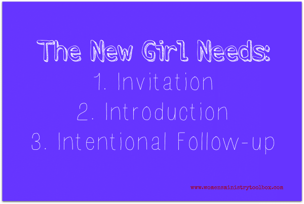 The Three Things Every New Girl Needs via Women's Ministry Toolbox