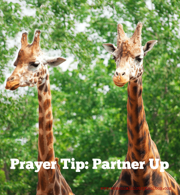 Prayer Tip: Partner Up