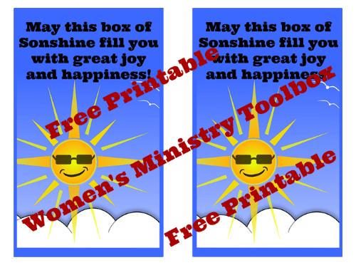 OCC Sonshine Box Free Printable