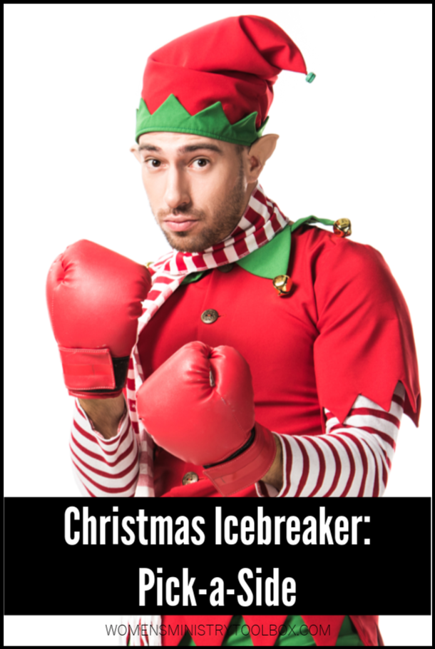 Quick and easy, the Christmas icebreaker game Pick-a-Side is the perfect pick for your Christmas party.