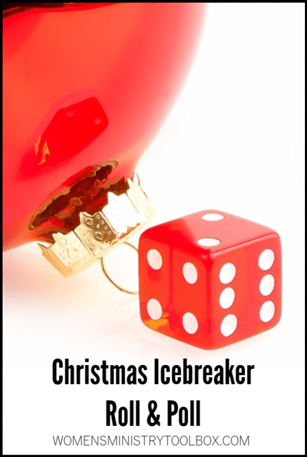 Quick and fun the Christmas Icebreaker Roll & Poll will be a hit with your group! Free printable included.