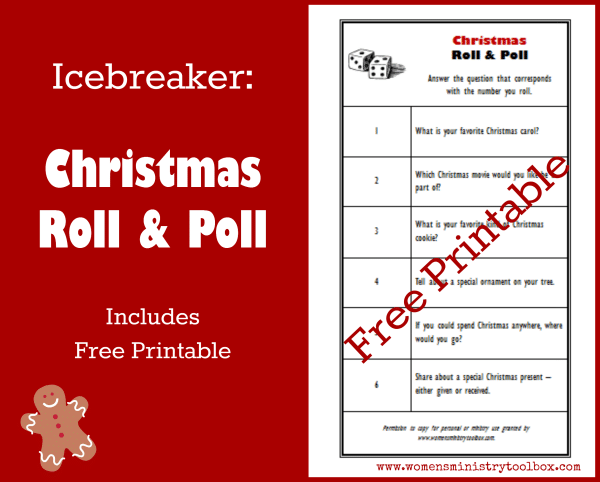Icebreaker Christmas Roll & Poll - Perfect for your next Christmas Party!