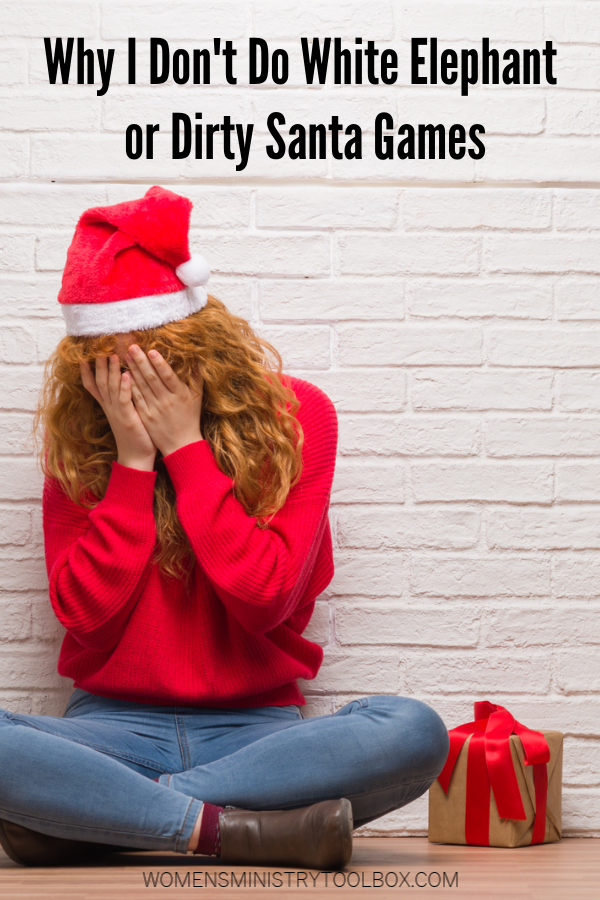 Why dirty Santa and white elephant exchanges might not make everyone's holiday happy.