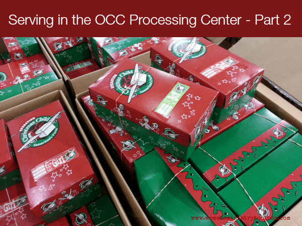 Serving in the OCC Processing Center Part 2 from Women's Ministry Toolbox