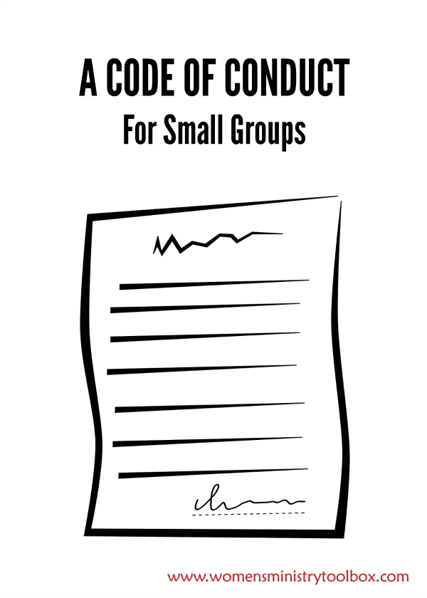 A Code of Conduct For Small Groups