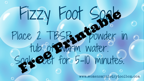 Fizzy Foot Soak Free Printable Tag
