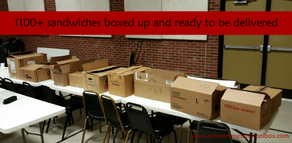 1100+ sandwiches boxed up for Operation Sandwich