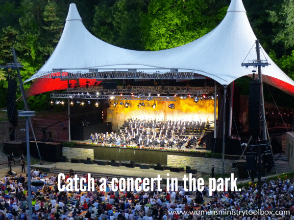 Catch a concert in the park.