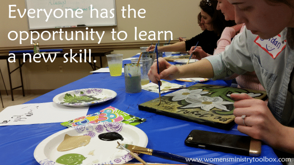 Everyone has the opportunity to learn a new skill