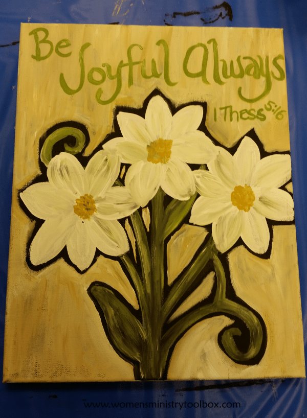 Finished product from our Women's Ministry workshop fellowship night