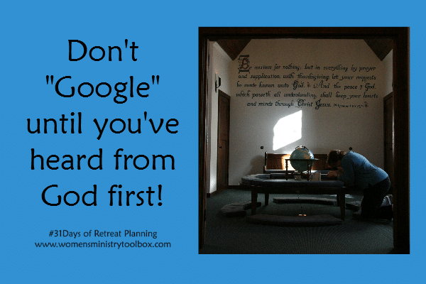 Don't Google until you've heard from God first