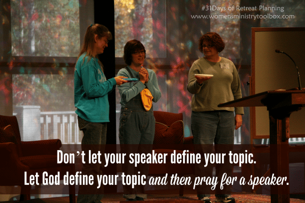 Dont let your speaker define your topic