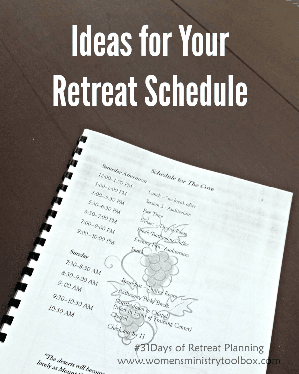 Day 12 Ideas For Your Retreat Schedule Women S