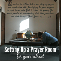 Setting Up a Prayer Room for Your Retreat