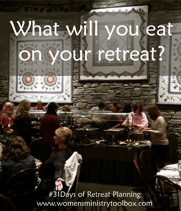 What will you eat on your retreat