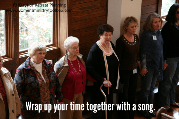 Wrap up your time together with a song