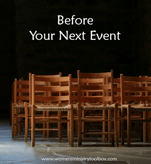 Before Your Next Event