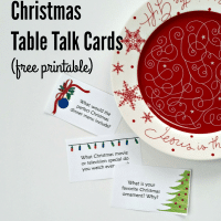 Christmas Table Talk Cards (Free Printable)