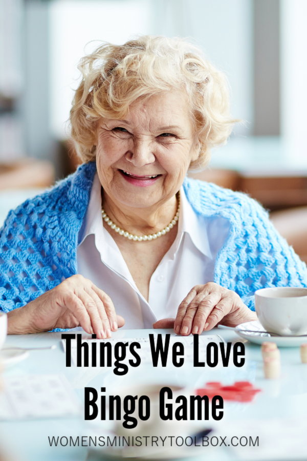 Discover what women in attendance at your event love. The Things We Love Bingo game is great for a Valentine's Day event or any time of year. Includes free printable.