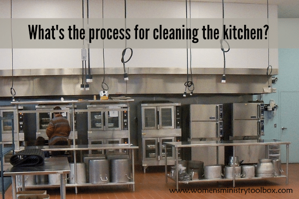 What's the process for cleaning the kitchen