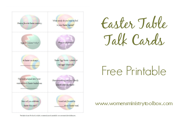 Easter Table Talk Cards