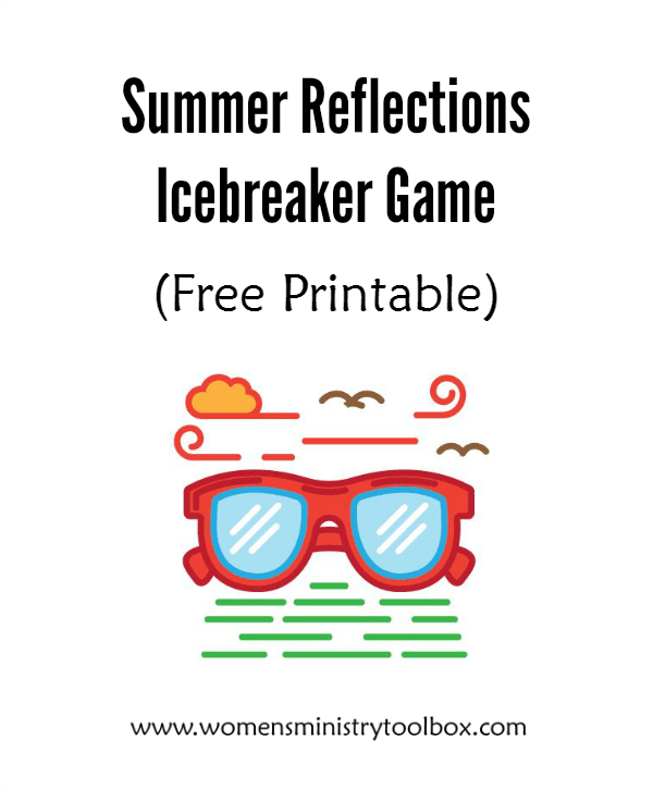 Summer Reflections Icebreaker Game