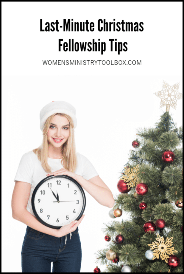 Need some help finshing the preparations for your Christmas party or fellowship? Check out these last-minute Christmas fellowship tips!