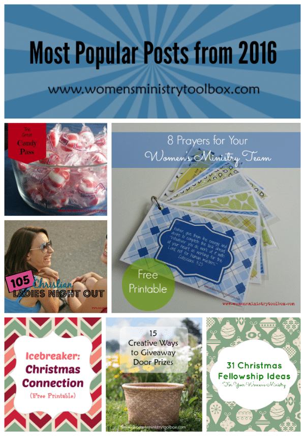 Most Popular Posts from 2016 from Women's Ministry Toolbox