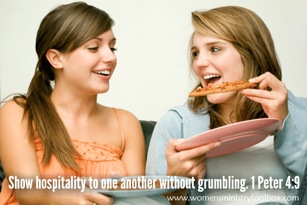 Show hospitality to one another without grumbling 1 Peter 49