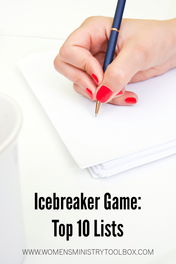 Icebreaker Game: Top 10 Lists - Women's Ministry Toolbox