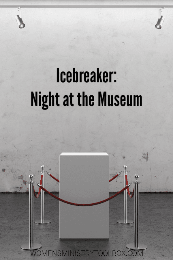 Night at the Museum is an original icebreaker game your group will love! Free printable included.