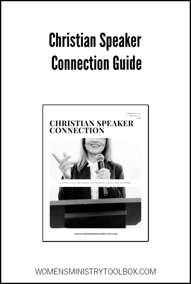 Looking for a speaker for your next women's ministry event? Check out the Christian Speaker Connection Guide!