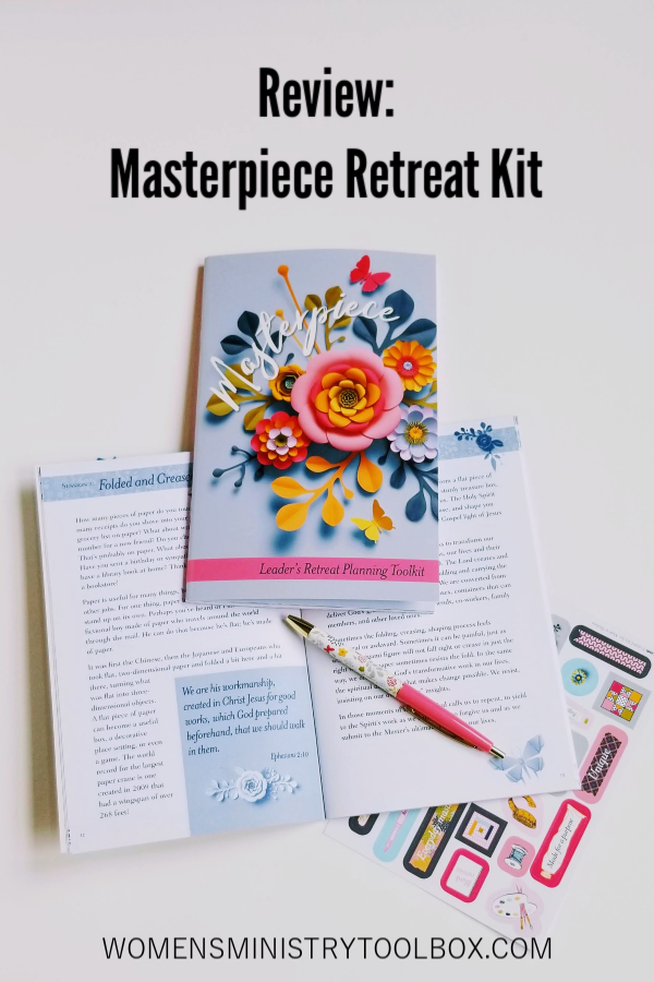 The Masterpiece Retreat Kit provides creative opportunities for your women to connect with each other and God's Word. Check out my review of the Masterpiece Retreat Kit!
