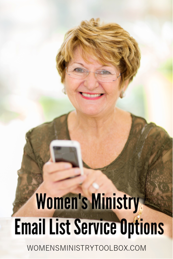 Does you need a women's ministry email list? Check out these tips and tools for using an email list service for your women's ministry.