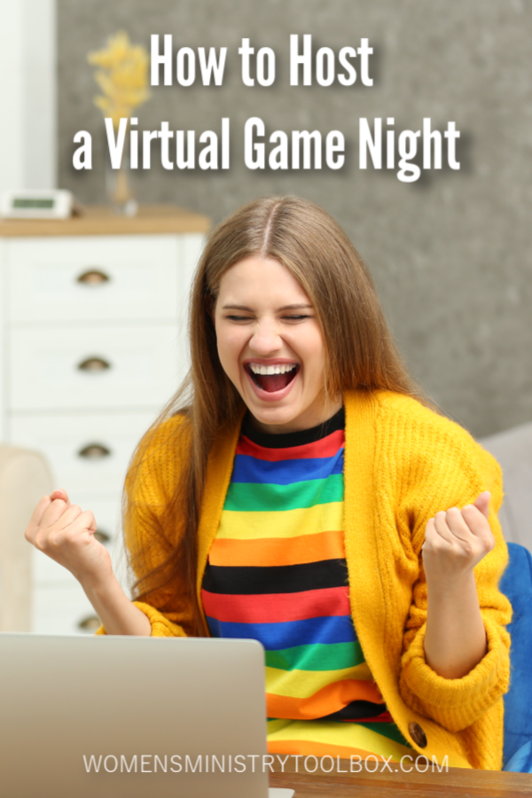 Tips and ideas for hosting a virtual game night! Gather your friends, small group, and family together for some fun!