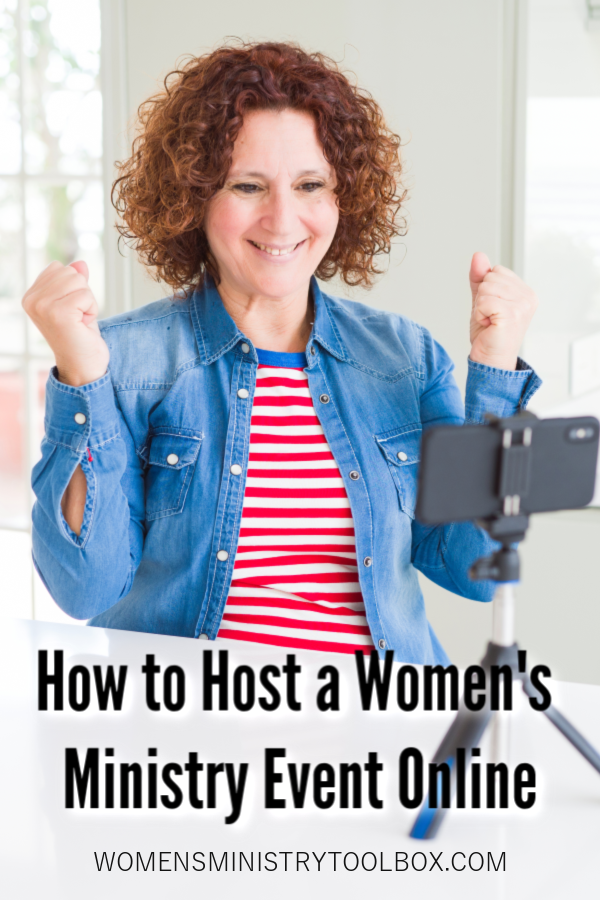 Wondering how to transition your in-person women's ministry events to a women's ministry event online? This post includes the information you need to know to host a successful online event.