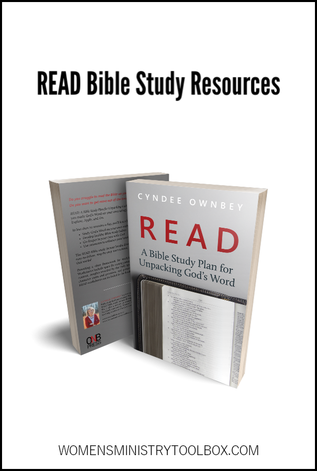Online and physical resources for the READ Bible study method.